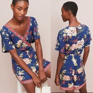 Anthro Farm Rio Estelle Floral Romper